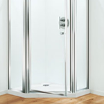 Coram pentagon shower door
